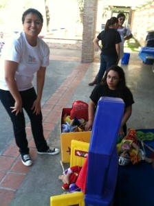 Ashanti and Rubi Volunteering