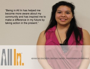Meet one of our Student Ambassadors, Evelyn Olivares! She's a Porter High School graduate pursuing a Nursing degree at UTB.