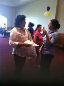 Ashanti talking to All In Parent