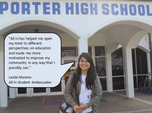 Meet Leslie Moreno! She is a student at The University of Texas at Brownsville and an All In Student Ambassador! She is obtaining a Bachelor's degree in Bilingual Education EC-6