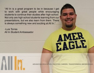 Meet Luis Torres and see what he has to say about All In.